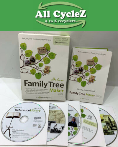 Family Tree Maker 2008 Deluxe New Condition!