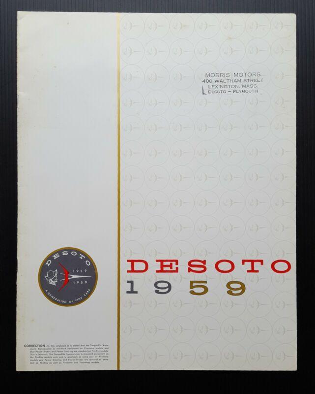 Original 1959 DeSoto Vintage Car Dealership Sales Brochure Large