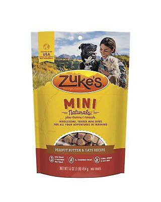 Zuke's Mini Naturals Dog Treats 16 oz Peanut Butter and Oats