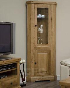 Claridge-solid-oak-furniture-glazed-corner-display-cabinet-unit