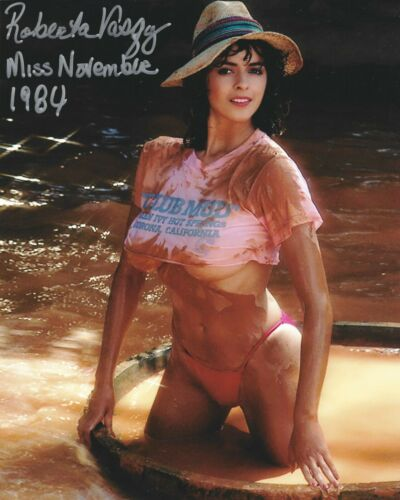 ROBERTA VASQUEZ 11/1984 PLAYBOY PLAYMATE SEXY SIGNED PHOTO  (IN1)