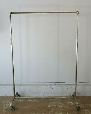 Vintage Rolling Garment Rack Clothes Rack