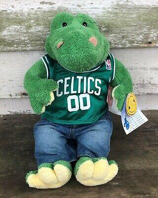 Build A Bear Offers (BUILD-A-BEAR Green CROC Alligator CELTICS Jersey Plush Stuffed Animal)