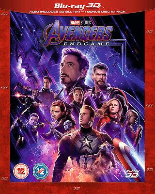 Marvel's AVENGERS: ENDGAME 3D + 2D Blu-ray with slipcover, Experienced US Seller