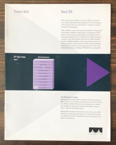 Cisco Systems - Protocol Brief Novell IPX Sales Brochure (1993)