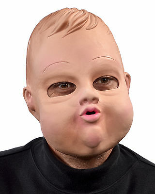 Fat Baby Doll Creepy Funny Face Haunted Undead Ghost Adult Halloween Mask - Funny Face Mask