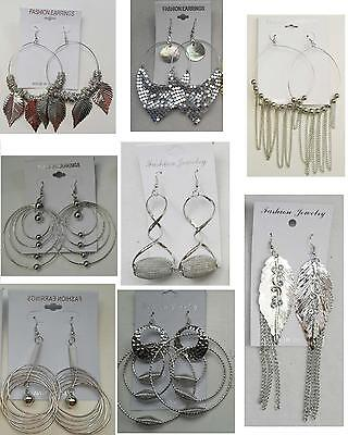A-26 Wholesale  lot 10 pairs  Big Fashion Dangle Silver Plated  - Wholesale Plates