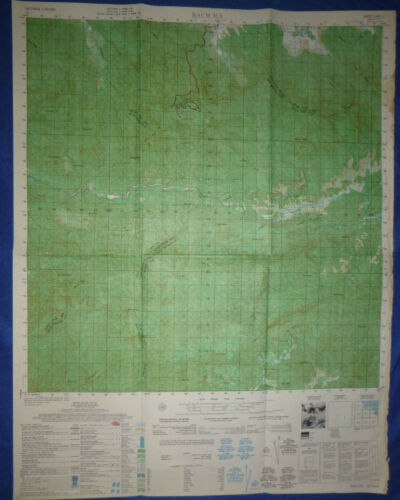 6541 ii - US RECON MAP - BACH MA - Thua Thien Province - USSF MACV - Vietnam War