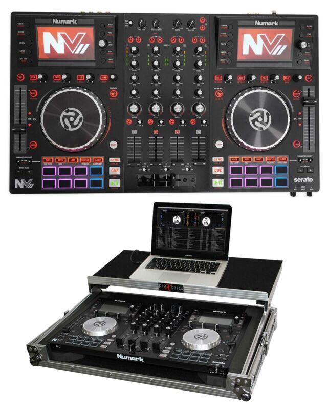 Numark NVII Intelligent Dual-Display Serato DJ Controller 4-Channel, USB + Case