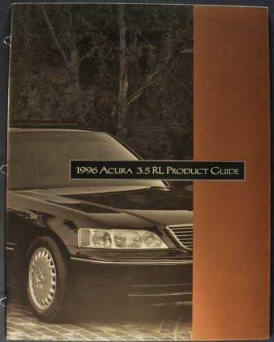 1996 Acura 3.5RL Sedan Salesman Training Guide Brochure Excellent Original 96