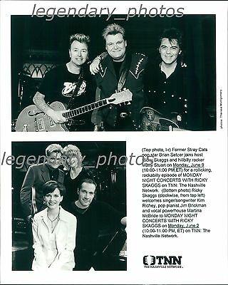 Brian Setzer, Ricky Skaggs, Jim Brickman & Martina McBride Original Press Photo Jim Brickman Martina Mcbride