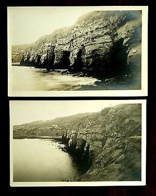 Caves   Houses At La Jolla San Diego California Ca 2 Rppc Postcards Ca 1918