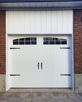 8x7 CARRIAGE GARAGE DOOR WITH WINDOWS......... $900 INSTALLED