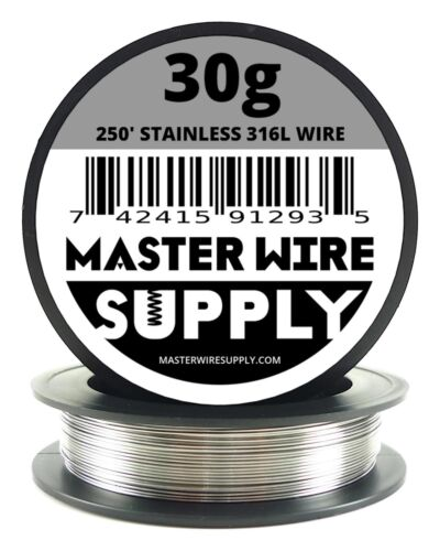 MWS - SS 316L - 250 ft. 30 Gauge AWG Stainless Steel Resistance Wire 30g 250'
