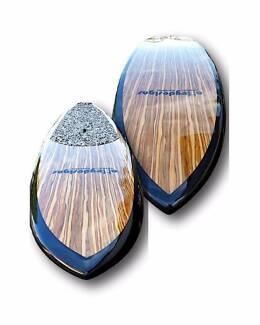 "Stand up paddle board 10'x32"" Timber both sides Carbon Rail"