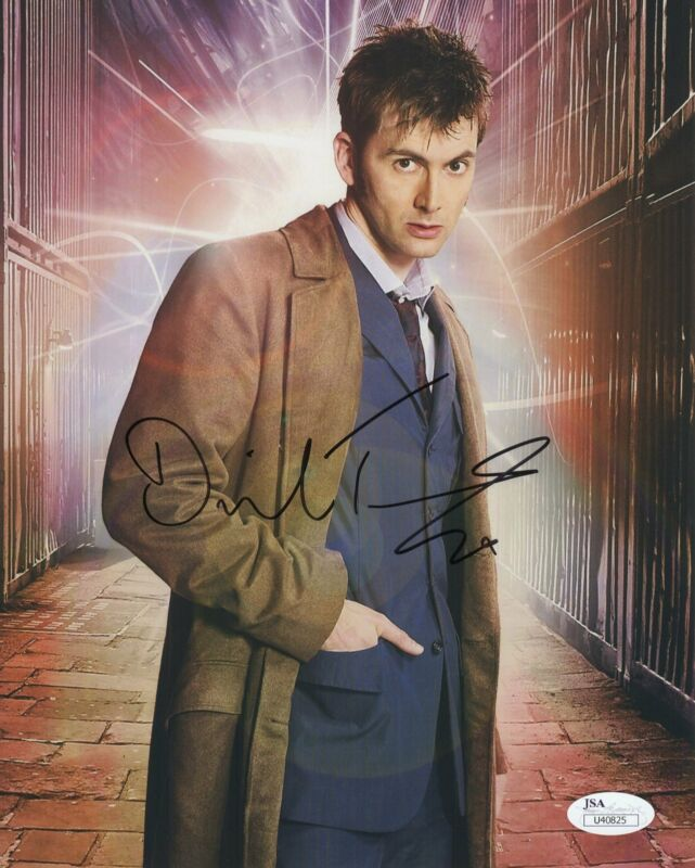 David Tennant Autograph Dr. Who 8X10 Photo JSA COA Jessica Jones DT8