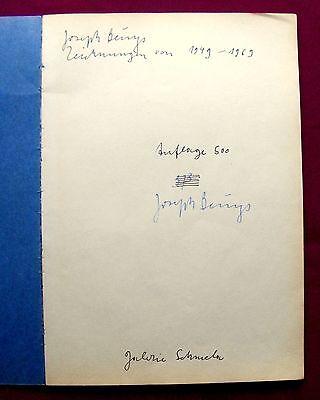1972 JOSEPH BEUYS - Zeichnungen 1949-1969 - SIGNIERT und NUMMERIERT