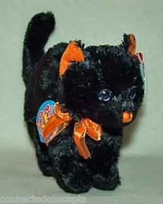 Halloween Ty Beanie Babies 2.0 - Scaredy the Black Cat (Current) NEW!