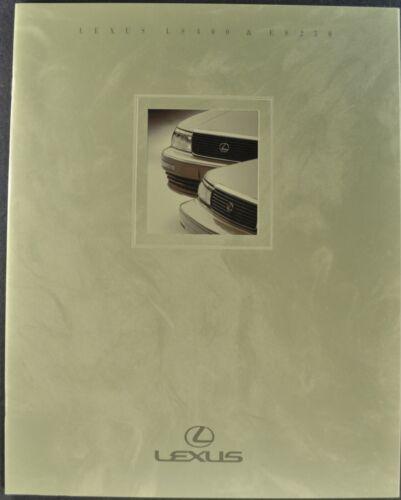 1991 Lexus Catalog Sales Brochure LS 400 ES 250 Sedan Excellent Original 91