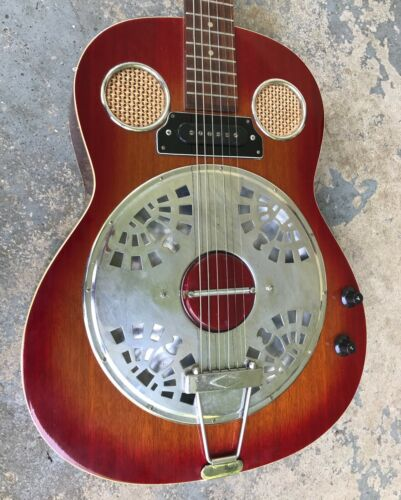 "1970s ""Orpheus"" Acoustic/Electric Resonator Guitar"