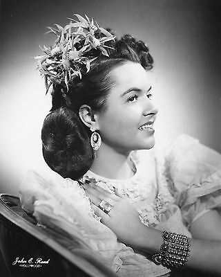 Vtg 1940 - 1950's Black & White PIN-UP Hair Style HEADSHOT Model PHOTO #689