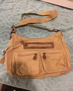 Canvas Crossbody Messenger Bag