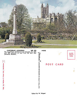 1960's CANTERBURY CATHEDRAL CANTERBURY KENT UNUSED COLOUR POSTCARD