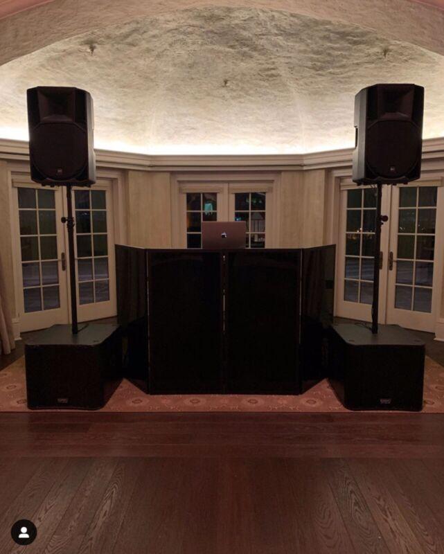 4 Panel Black Plexiglass DJ Facade | DJ Frontboard | Dj Equipment