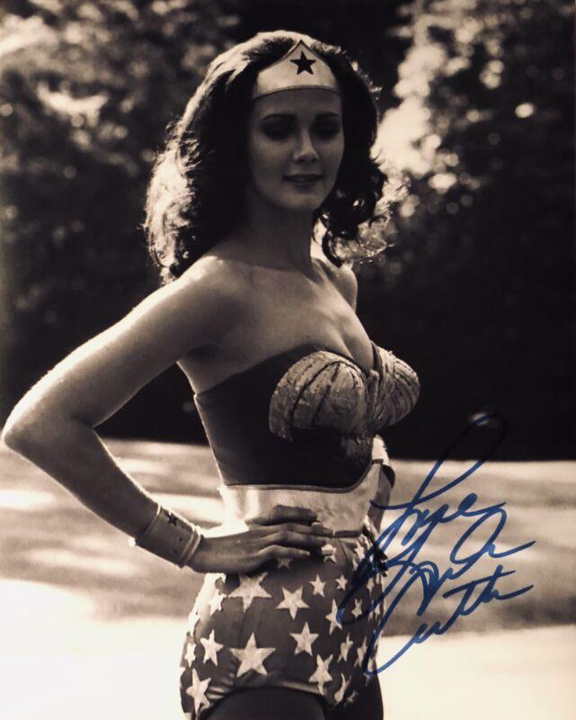 Lynda Carter - Wonder Woman - Original Autograph  - Hand Signed 8x10 w/ COA