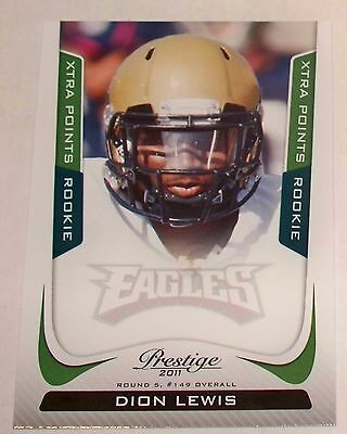 2011 Dion Lewis Prestige Green Xtra Points Rookie Card 23 25 Free Shipping