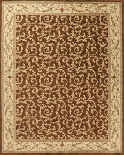 Aubusson Oriental Area Rugs All-Over Floral 8 x 10 Carpet CL