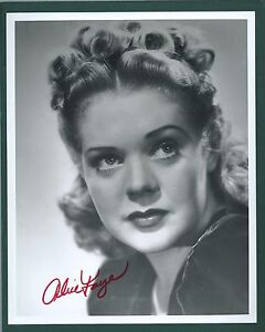 Actress Alice Faye signed photograph