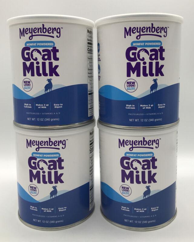 4 Pack Meyenberg Nonfat Powdered Goat Milk, 12 oz Each Vitamins A & D Exp 05/24