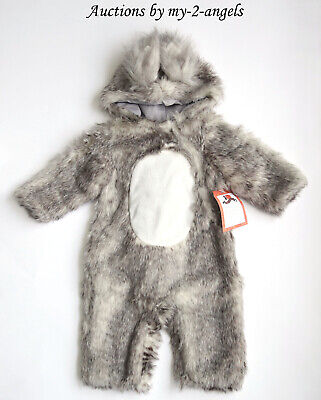 Baby Squirrel Costume (NEW Pottery Barn Kid Halloween BABY SQUIRREL WOODLAND COSTUME 6-12 9 MONTHS)