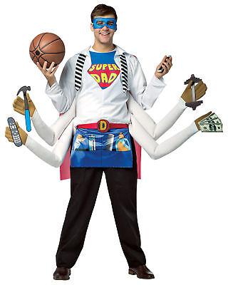 Super Dad Adult Men Costume Humor Funny Giant Hands Incredibles Halloween