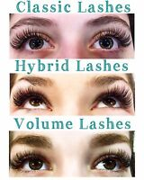 Classic, Hybrid, and Volume Lash Extensions!