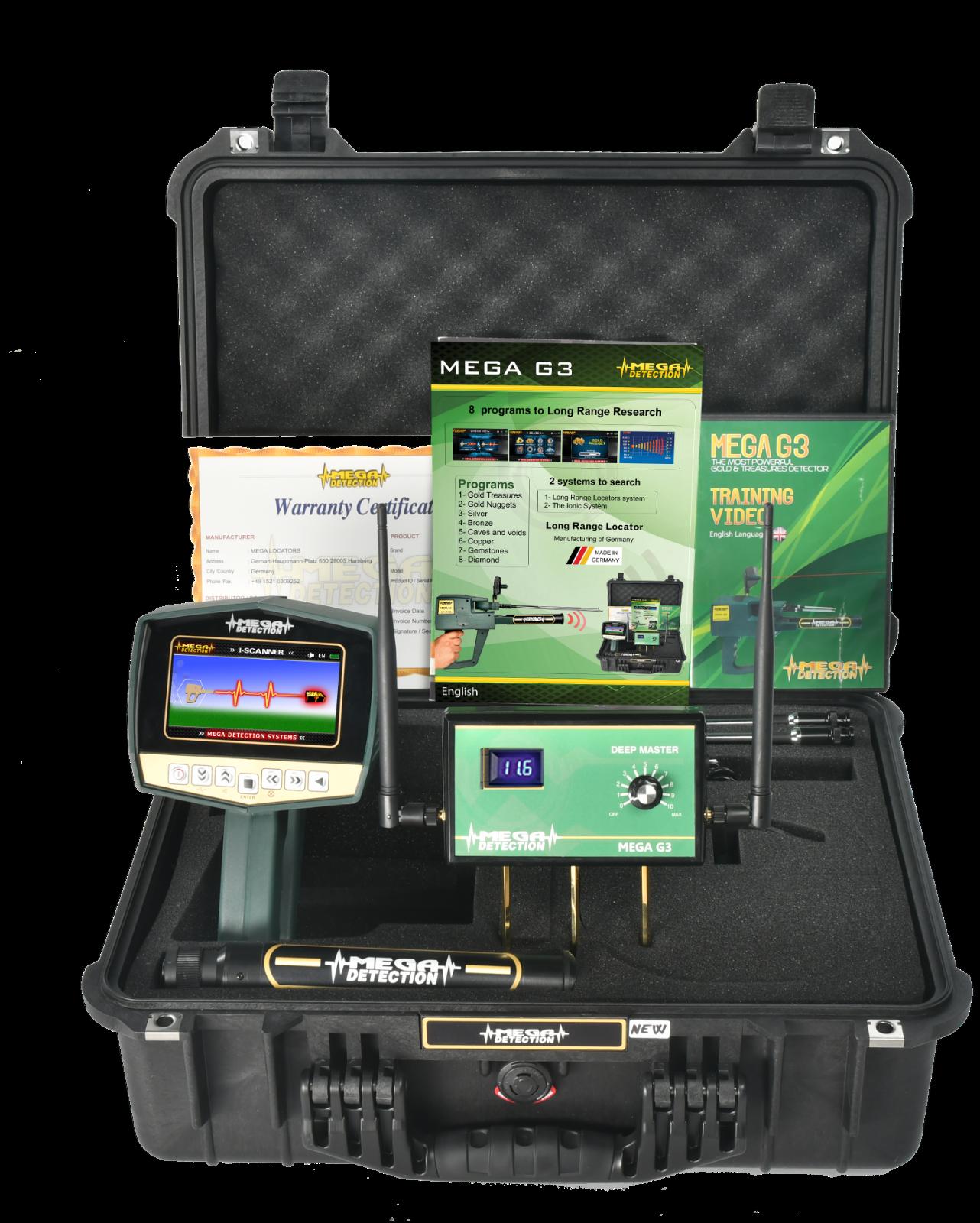 MEGA DETECTION MEGA G3 Geolocator - Professional Long Range Metal Detector