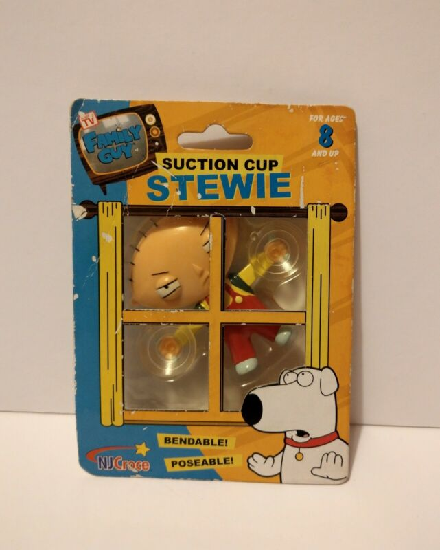 FAMILY GUY ( STEWIE ) SUCTION CUP 2005 Where can you stick him?