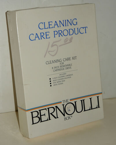 "SEALED NEW-OLD-STOCK Iomega Bernoulli 8"" Flexible Disk Drive Cleaning Kit - RARE"