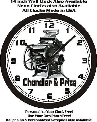 Chandler Price Letterpress Wall Clock-free Usa Ship
