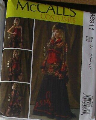 McCall's Women's Steampunk Pattern M6911 Bolero Corset Skirt OverSkirt: 8-14
