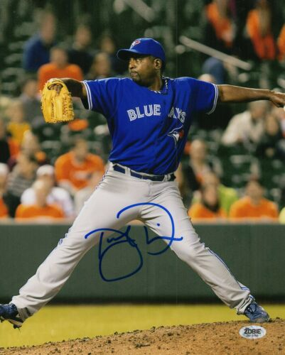 Darren Oliver Autograph Signed 8x10 Photo - Toronto Blue Jays (Zobie COA)