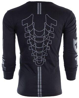 Long Sleeve Printed T-shirt (TRUE RELIGION Mens LONG SLEEVE T-Shirt MOTO PUFF Black Grey Print $99 Jeans NWT )