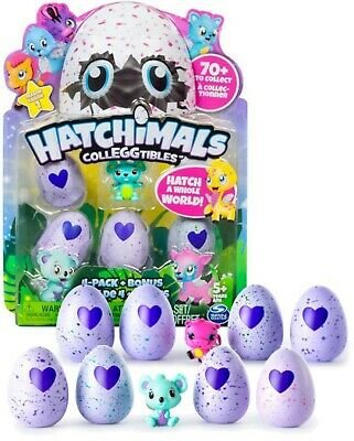 NEW 2x 4-Pack Hatchimals CollEGGtibles Hatching Eggs +Bonus Figure Season 1