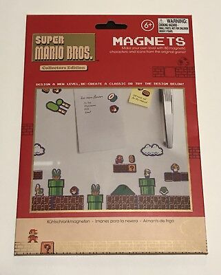 Super Mario Bros. Collectors Edition 80 Magnets New In Packaging Fridge