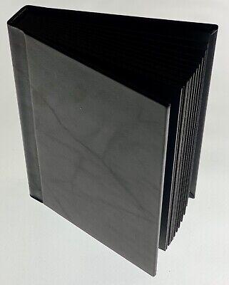 Black Leather-Bound Hardcover Scrapbook/Picture Album (20 -
