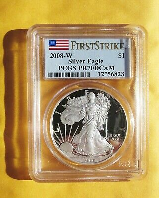 2008 W Silver American Eagle Proof Coin PCGS PR70DCAM First Strike ✅ ✅ ✅