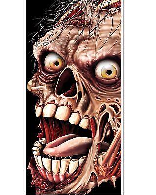 5 foot SCARY ZOMBIE Halloween Scene Setter Bathroom DOOR COVER](Scary Halloween Scenery)