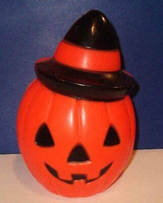 "Rare Vintage 1981 Empire Halloween Blow Mold Pumpkin Hard to Find 8"" No cord"