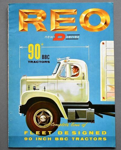 "ORIGINAL 1961 REO ""D SERIES 90"" BBC HEAVY TRACTOR BROCHURE ~ 6 PAGES ~ 61REOD"